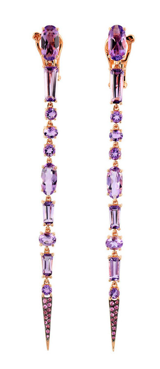 Etho Maria Purple Topaz Stiletto Earrings