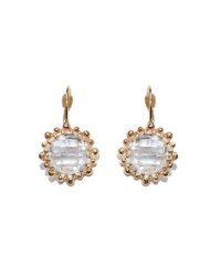 Anzie Dewdrop Snowflake Earrings - Clear Topaz