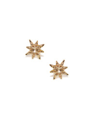 Anzie Micro Aztec Starburst Studs | Gold Stud Earrings | Designer Jewelry