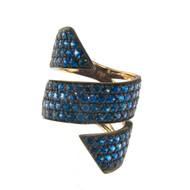 Modern Blue Sapphire Ring