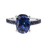 Oval Sapphire Engagement Ring