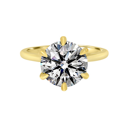 Diamond Engagement Ring with Six Prong Basket