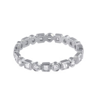 Platinum Eternity wedding band