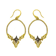 Armenta Gold Mesh Earrings