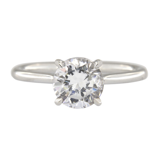 Solitaire Brilliant Cut Engagement Ring
