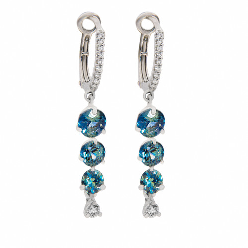 Teal Sapphire Earrings
