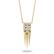 Gold and Diamond Tassel Pendant
