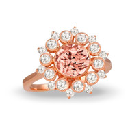 Morganite Flower Ring
