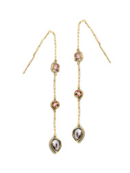 Anzie Chain Earrings Pink