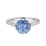 Light Blue Sapphire Vintage Style Ring