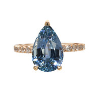 Sapphire Pear Shape Rose Gold Ring