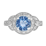 Light Blue Sapphire Vintage Engagement Ring