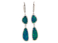Double Drop Opal Earrings