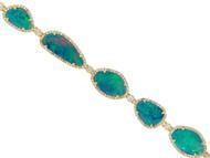 Opal bracelet with Diamond Halos