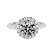 Brilliant-cut-diamond-solitaire-diamond-halo-ring