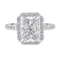 Radiant-Diamond -Engagement-Ring with Halo