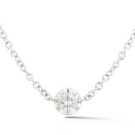Diamond Solitaire Pendant White Gold