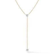 Floating Diamond Lariat 2 Diamonds