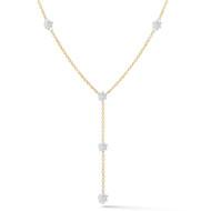 Invisible Diamond Y Necklace