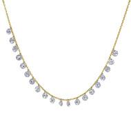 Floating Shimmer Diamond Necklace