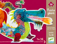 DJECO - GIANT SILHOUETTE 36PC PUZZLE - LEON THE DRAGON