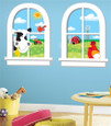 APPLIQUES - GIANT WINDOW PANES - DOWN ON THE FARM