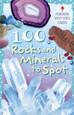 USBORNE - SPOTTER CARDS - 100 ROCKS & MINERALS TO SPOT