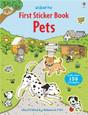 USBORNE - FIRST STICKER BOOK - PETS
