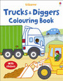 USBORNE - COLOURING BOOK - TRUCKS AND DIGGERS