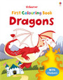 USBORNE - FIRST COLOURING BOOK - DRAGONS