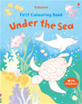 USBORNE - FIRST COLOURING BOOK - UNDER THE SEA
