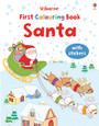 USBORNE - FIRST COLOURING BOOK - SANTA