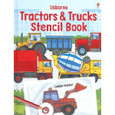 USBORNE - STENCIL BOOK - TRACTORS & TRUCKS