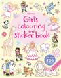 USBORNE - COLOURING & STICKER BOOK - GIRL'S