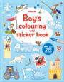 USBORNE - COLOURING & STICKER BOOK - BOY'S