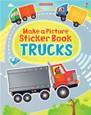 USBORNE - MAKE A PICTURE STICKER BOOK - TRUCKS