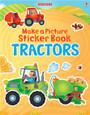 USBORNE - MAKE A PICTURE STICKER BOOK - TRACTORS