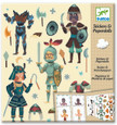 DJECO - STICKERS & PAPER DOLLS - KNIGHTS