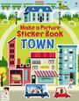 USBORNE - MAKE A PICTURE STICKER BOOK - TOWN