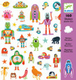 DJECO - STICKERS - OXO PLANET
