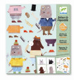 DJECO - STICKERS & PAPER DOLLS - MY DOG FRIENDS