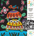 DJECO - VELVET COLOURING SET - CREEPY CRAWLIES