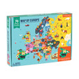 MUDPUPPY - 70 PIECE GEOGRAPHY PUZZLE - MAP OF EUROPE