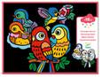 DJECO - VELVET COLOURING - BABY BIRDS