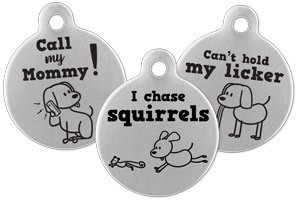 Stick Dog Pet Tags