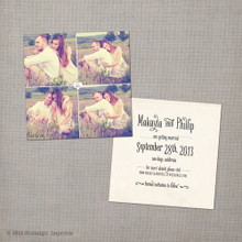 Makayla 1 - 5.25x5.25 Vintage Photo Save the Date Card