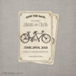 Tandem Bicycle 2 - 4x6 Vintage Save the Date Card