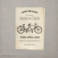 Tandem Bicycle 1 - 4x6 Vintage Save the Date Card
