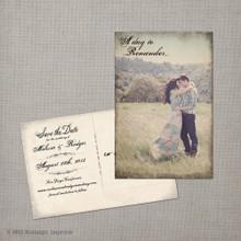 Melissa 2 - 4x6 Vintage Photo Save the Date Postcard card