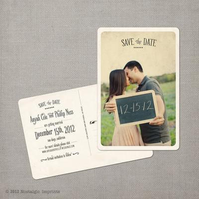 Anyah - 4x6 Vintage Photo Save the Date Postcard card